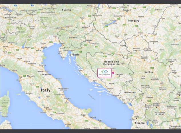 Tarčin Forest Resort - Clear map of italy